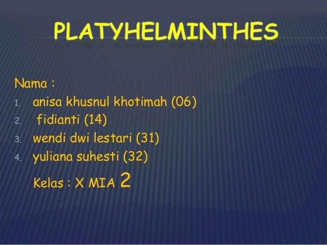 peranan platyhelminthes adalah)