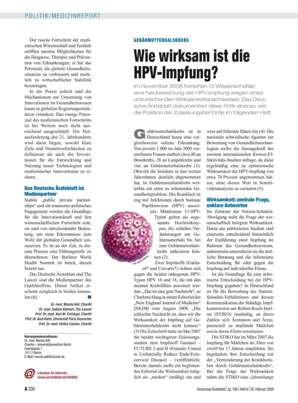 hpv impfung studien