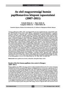 humán papillomavírus hpv típusok)