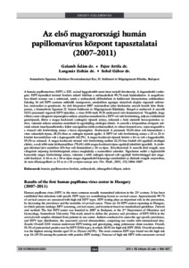 humán papillomavírus típusok