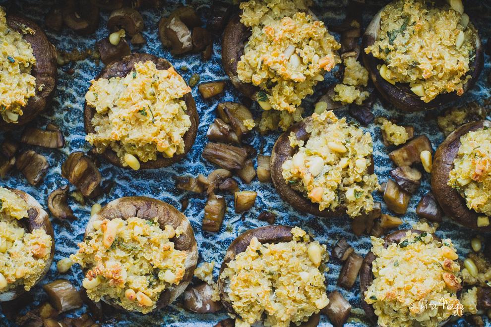 Zöldséges-gombás quinoa