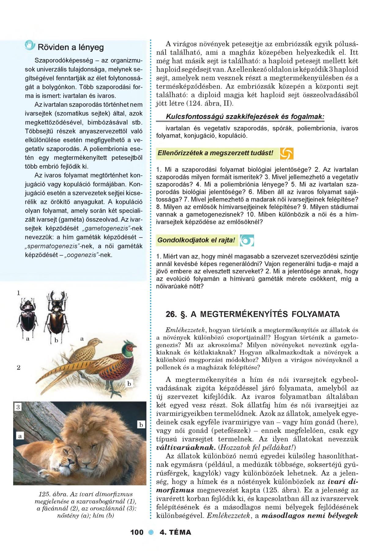 petesejtek és paraziták kezelése)