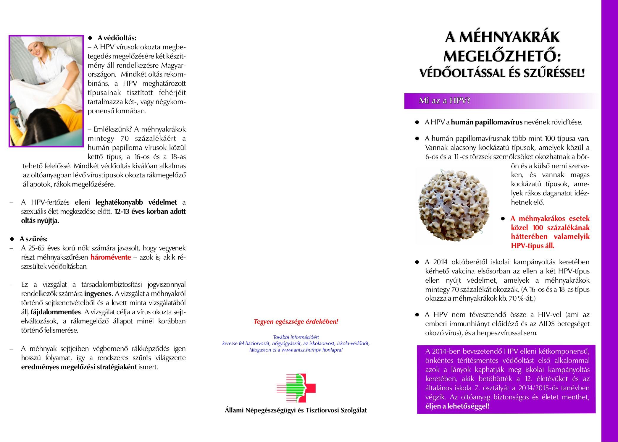új papillomavírus elleni vakcina