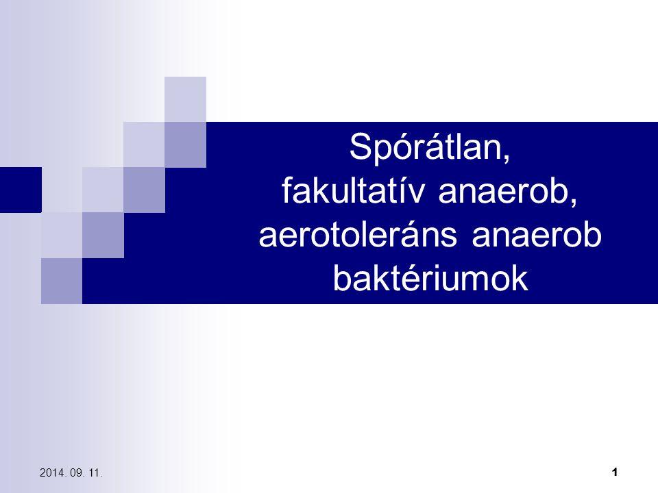 anaerob baktériumok meghatározása