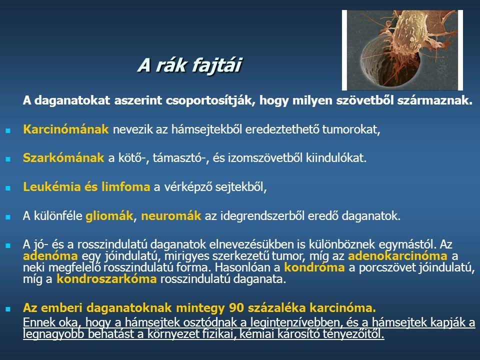 sugárzásból származó szarkóma rák)