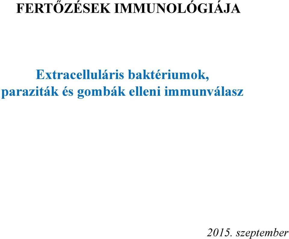 paraziták elleni immunválasz)
